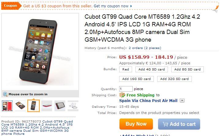 Aliexpress.com  Buy Cubot GT99