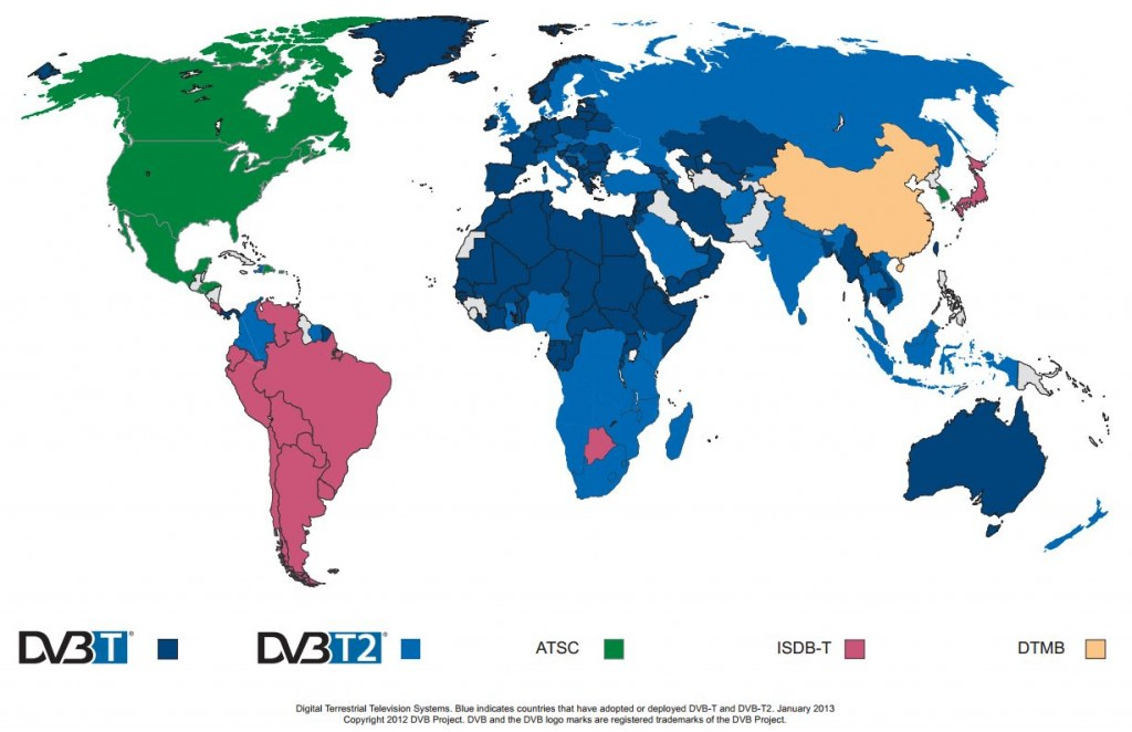 Worldwide DVB-T