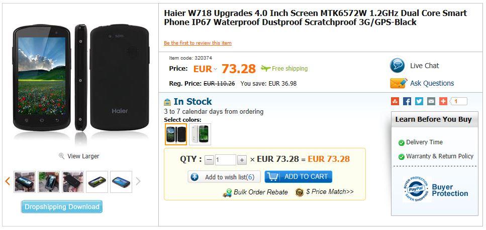 Haier W718 Upgrades