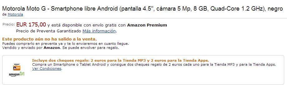 Motorola Moto G - Smartphone libre