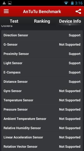 THL W100S Sensores