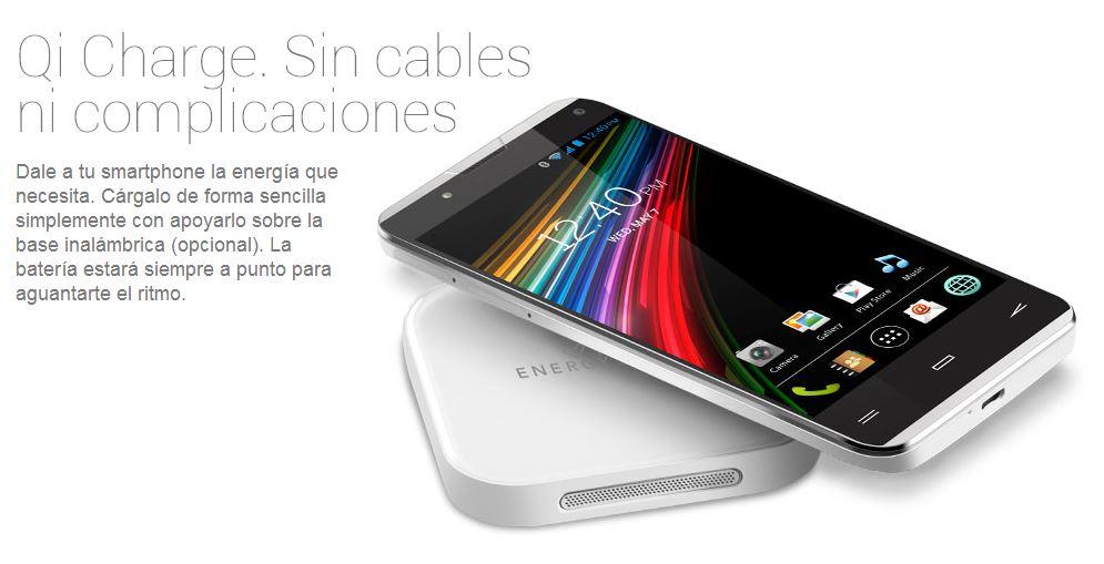 Energy Phone Pro Qi carga inalambrica