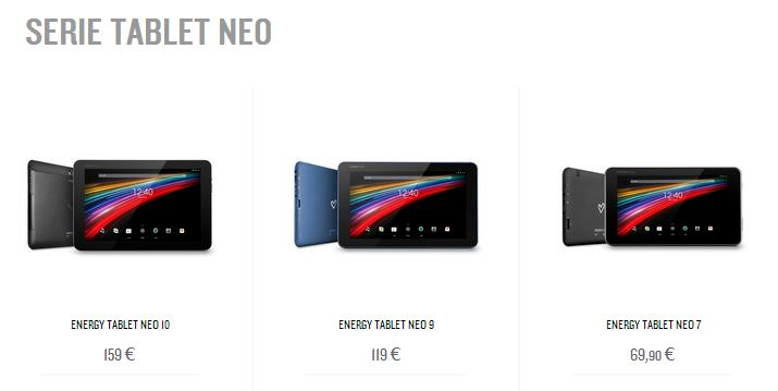 Serie Tablet Neo