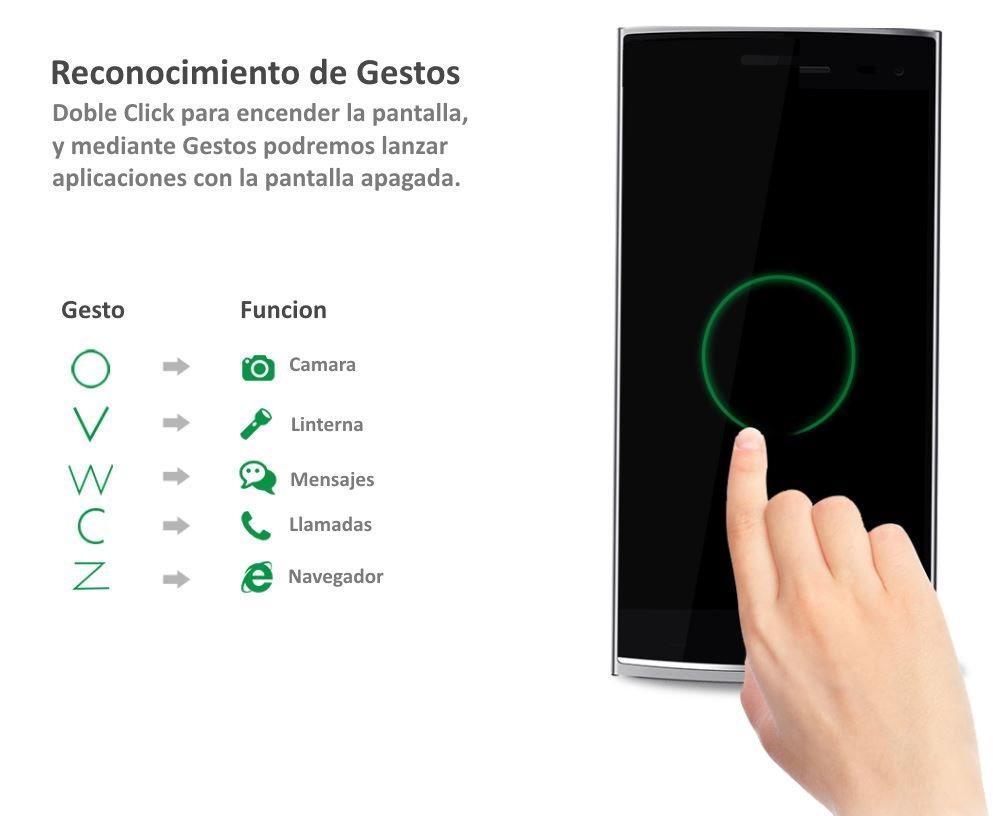 Elephone G6 Gestos