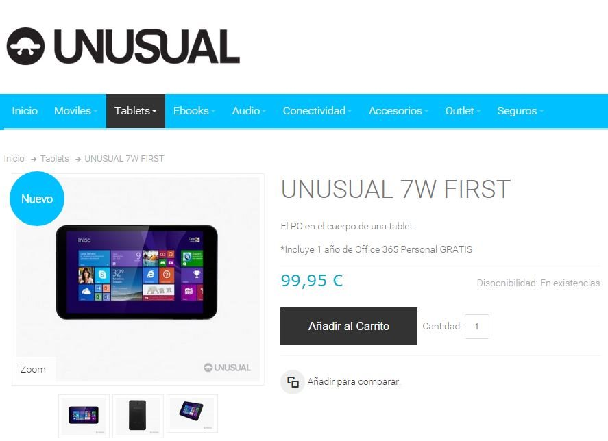 Comprar UNUSUAL 7W FIRST