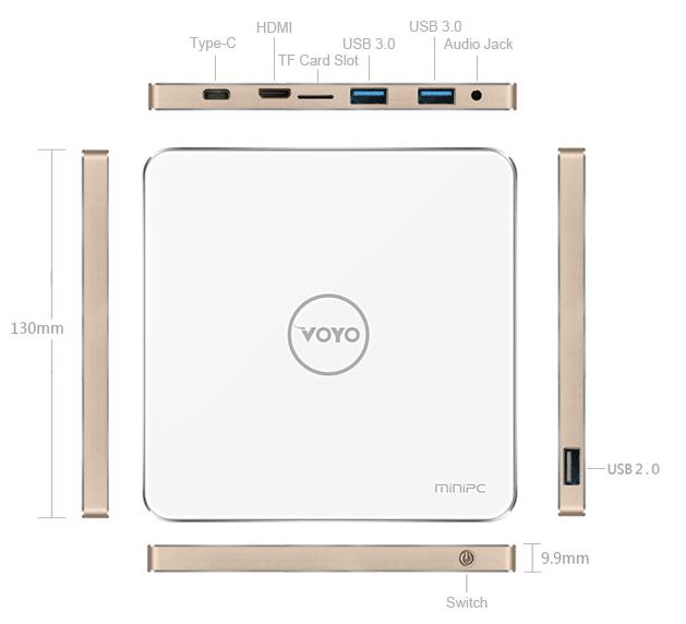 VOYO V3 Mini PC conexiones