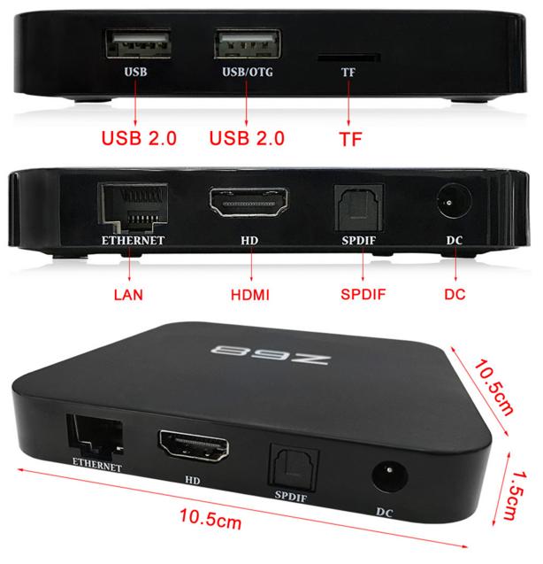 Z68 TV Box Conexiones