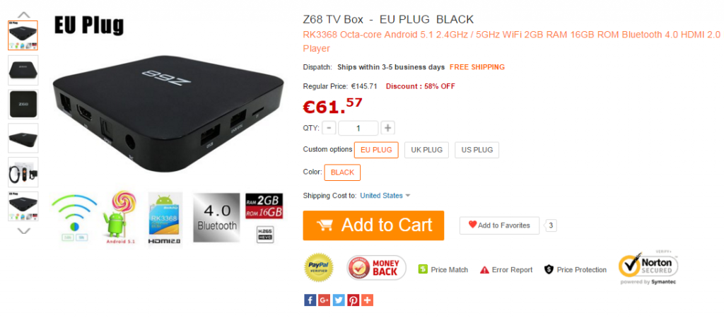 Z68 TV Box-Oferta