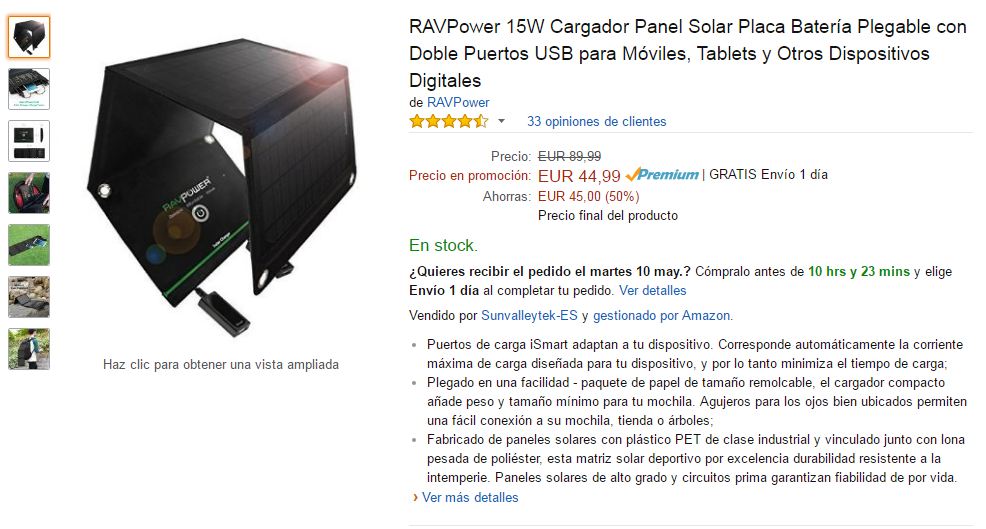 RAVPower 15W Cargador