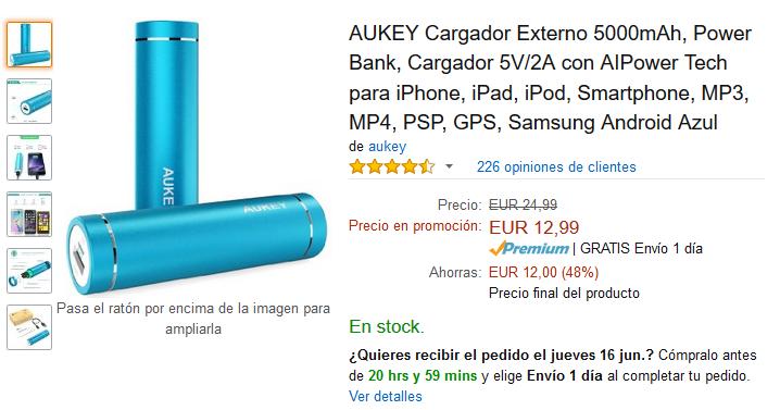 Aukey 5000 Amazon
