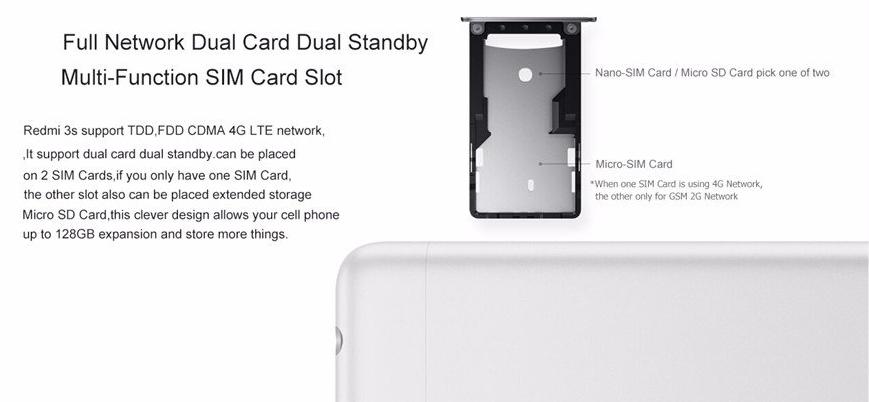 Original MI Xiaomi Redmi 3S Dualsim