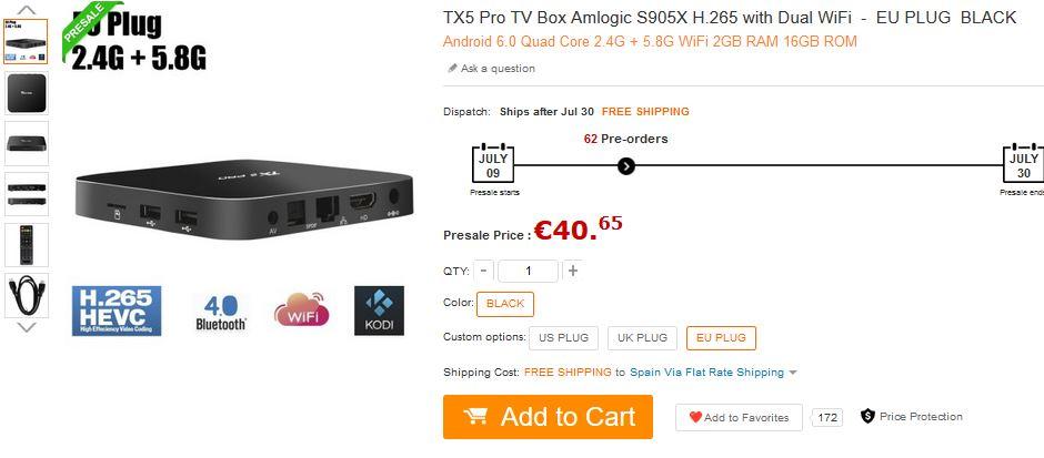 TX5 Pro TV Box