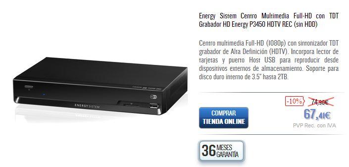 Energy P3450 HDT
