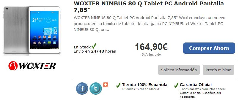 WOXTER NIMBUS 80 Q